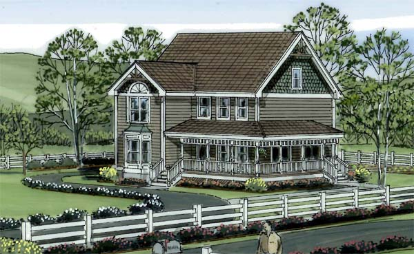 Country, Farmhouse, Victorian House Plan 24301 with 4 Beds, 3 Baths Picture 1