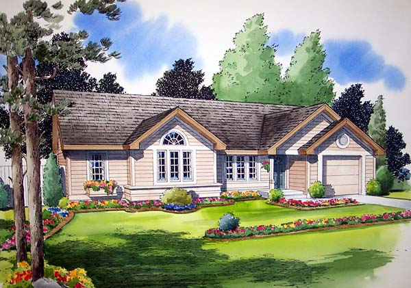 Ranch Traditional House Plan 24302 Elevation