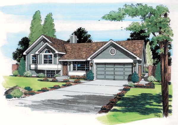 Contemporary Traditional Elevation of Plan 24305