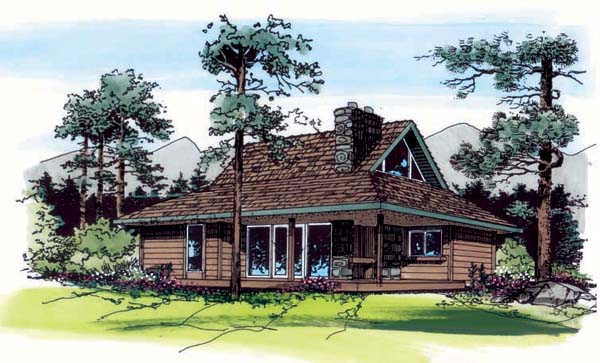 Cabin Country Southern House Plan 24309 Elevation