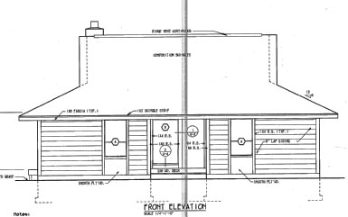 Cabin Country Southern House Plan 24309 Rear Elevation