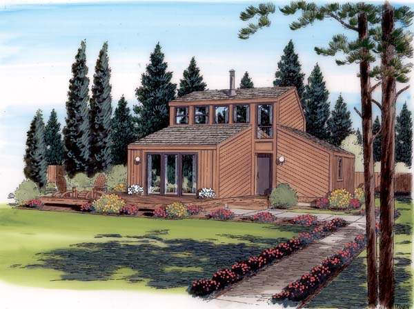 Contemporary Retro House Plan 24310 Elevation