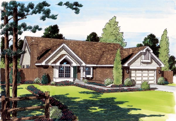 Ranch Traditional House Plan 24314 Elevation