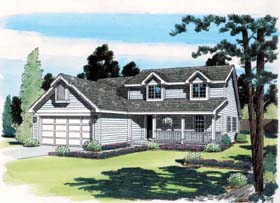 Traditional , Southern , Farmhouse , Country House Plan 24318 with 4 Beds, 2 Baths, 2 Car Garage Elevation