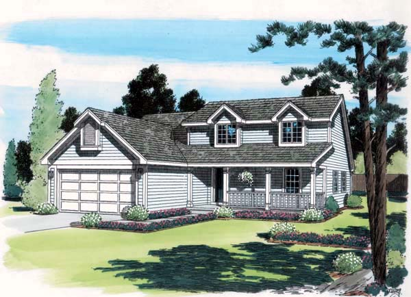 Country Farmhouse Southern Traditional House Plan 24318 Elevation
