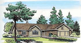 Ranch , Traditional House Plan 24320 with 3 Beds, 2 Baths, 2 Car Garage Elevation