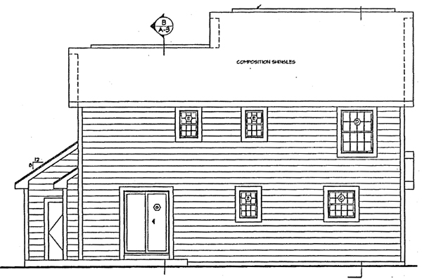 Country Traditional House Plan 24326 Rear Elevation