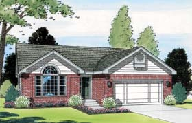 Ranch Traditional House Plan 24327 Elevation