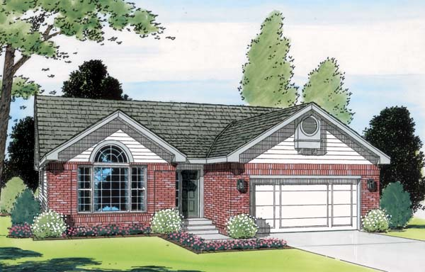 One-Story Ranch Traditional Elevation of Plan 24327