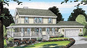 Country Farmhouse Traditional House Plan 24400 Elevation