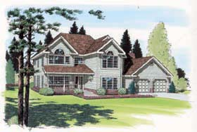 Country , Farmhouse , Traditional House Plan 24401 with 4 Beds, 3 Baths, 2 Car Garage Elevation