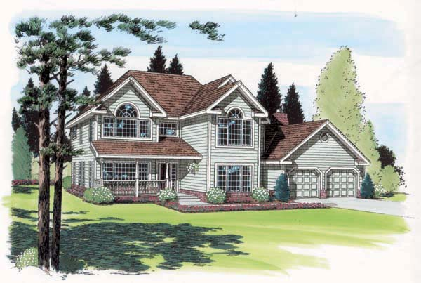 Country, Farmhouse, Traditional House Plan 24401 with 4 Beds, 3 Baths, 2 Car Garage Front Elevation