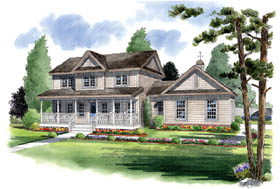 Traditional , Farmhouse , Country House Plan 24405 with 4 Beds, 4 Baths, 2 Car Garage Elevation