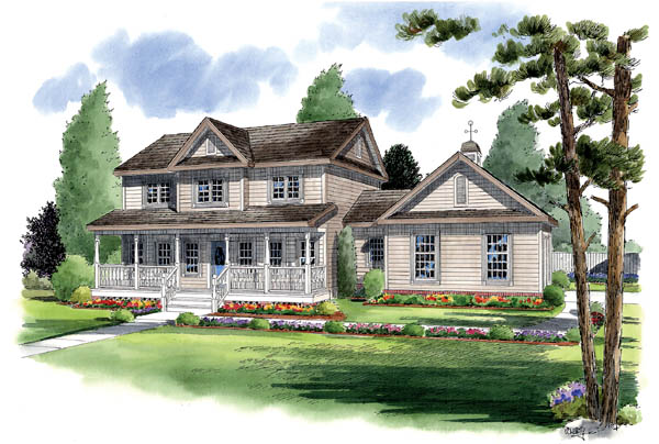 Country Farmhouse Traditional Elevation of Plan 24405