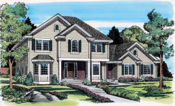 Colonial Traditional House Plan 24551 Elevation