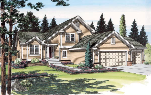 Traditional House Plan 24553 Elevation