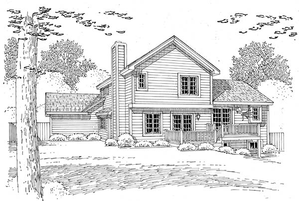 Traditional House Plan 24553 Rear Elevation