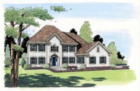 Colonial , European , Southern , Traditional House Plan 24558 with 3 Beds, 3 Baths, 3 Car Garage Elevation