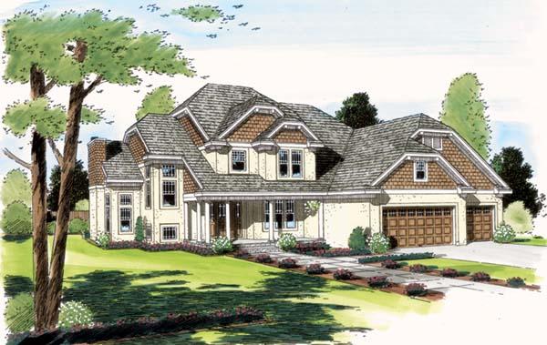 European House Plan 24559 Elevation