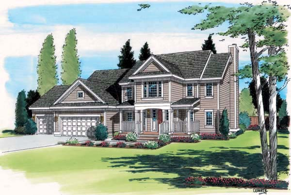 Country Southern Traditional House Plan 24560 Elevation