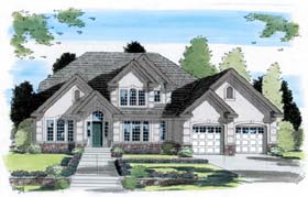 European Traditional House Plan 24565 Elevation