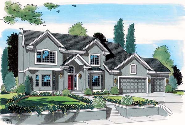 Traditional House Plan 24566 Elevation