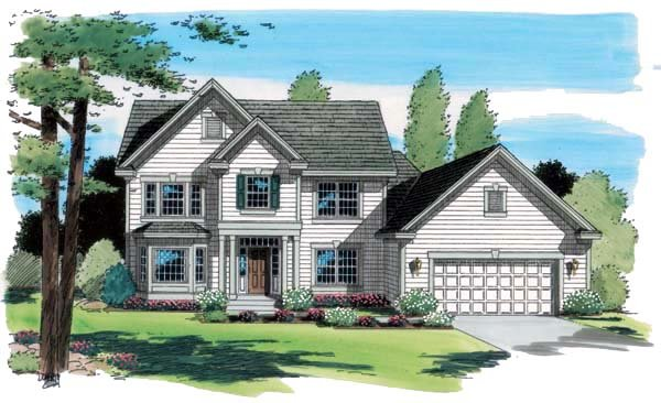 Traditional House Plan 24585 Elevation