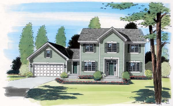 Colonial Traditional House Plan 24587 Elevation