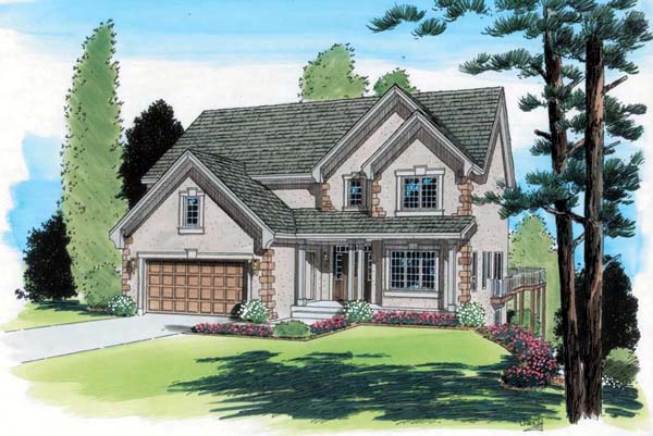 European Traditional House Plan 24589 Elevation