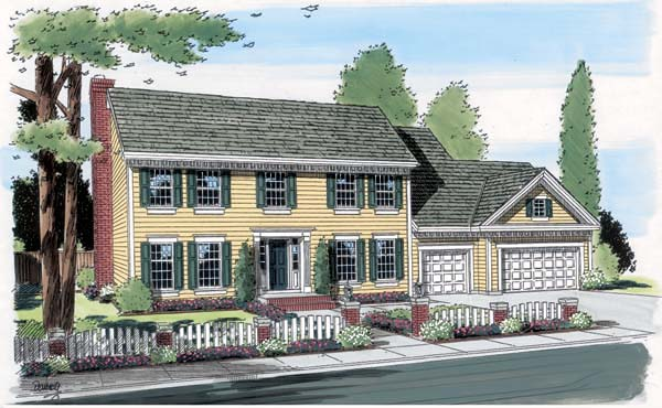 Colonial Southern Traditional House Plan 24590 Elevation