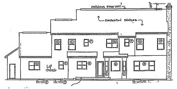 Colonial Southern Traditional House Plan 24590 Rear Elevation