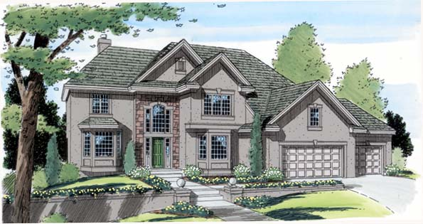 European Traditional House Plan 24595 Elevation