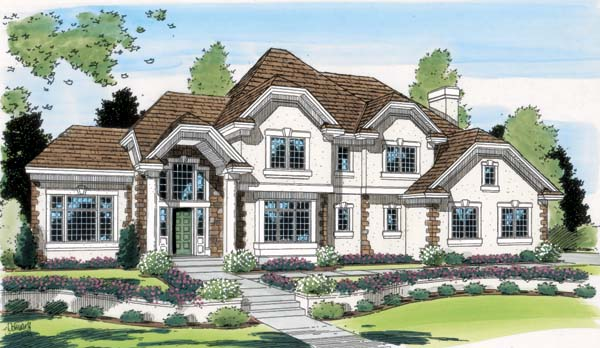 European Traditional House Plan 24599 Elevation