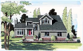 Contemporary European Traditional House Plan 24601 Elevation