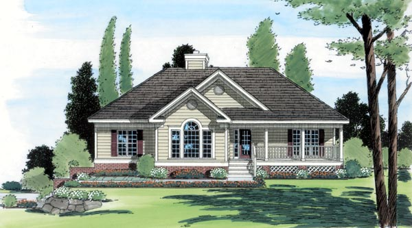 Country Southern Traditional Elevation of Plan 24651