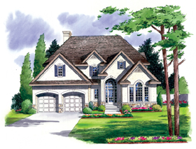 Traditional , French Country , European House Plan 24653 with 3 Beds, 3 Baths, 2 Car Garage Elevation