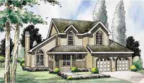 Country , Traditional House Plan 24654 with 3 Beds, 3 Baths, 2 Car Garage Elevation