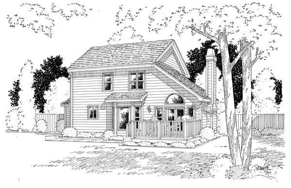 Country Traditional House Plan 24654 Rear Elevation