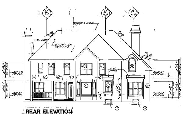 European Traditional House Plan 24656 Rear Elevation