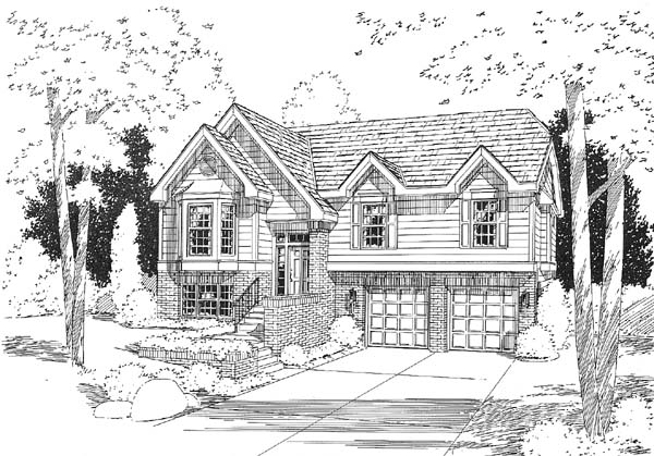 European Traditional House Plan 24660 Elevation