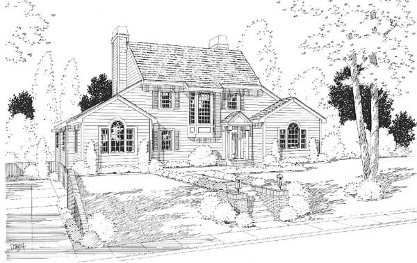 Country, Traditional House Plan 24662 with 3 Beds, 5 Baths, 2 Car Garage Elevation