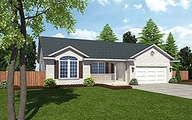 Cottage Country Ranch Southern Traditional House Plan 24700 Elevation
