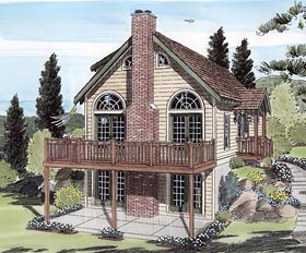 Cabin , Cottage , Traditional House Plan 24705 with 3 Beds, 2 Baths Elevation