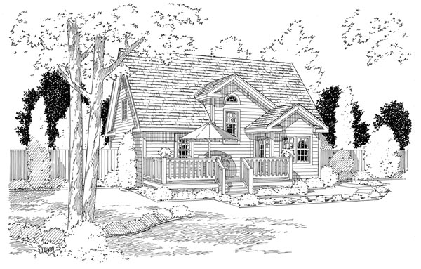 Cottage Country Farmhouse Southern House Plan 24706 Rear Elevation