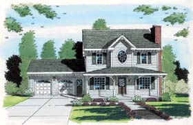 Country , Farmhouse , Southern House Plan 24707 with 3 Beds, 3 Baths, 2 Car Garage Elevation
