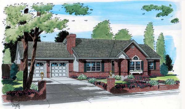 Ranch House Plan 24709 Elevation