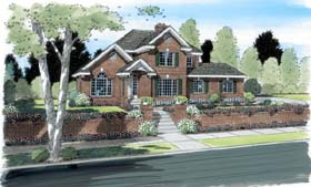 European Traditional House Plan 24710 Elevation
