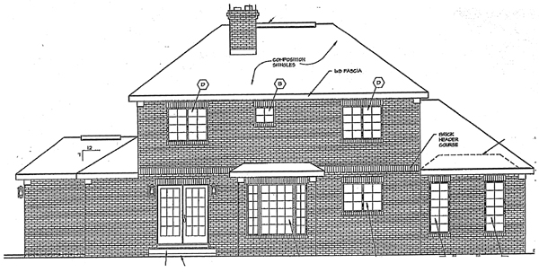 European Traditional House Plan 24710 Rear Elevation