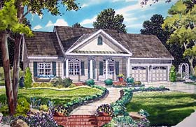 Country Ranch Southern House Plan 24717 Elevation