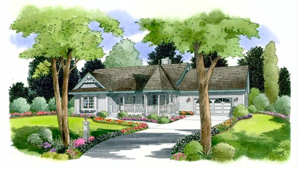 Cottage Country Ranch Victorian House Plan 24718 Elevation
